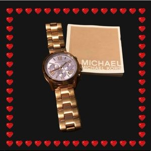 Michaels Kors Rose Gold Purple Faced Watch NWT